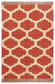 moroccan trellis flatweave rust wool jute rug 4 x6 mediterranean area rugs by rugsville