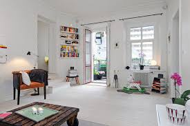 Living Room Apartment Scandinavian Style Three Room Apartment