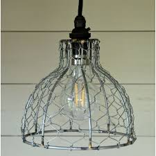 contemporary bell en wire pendant light shade
