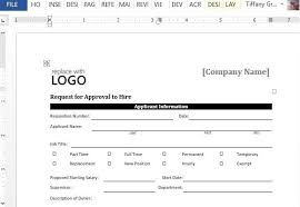 Approval To Hire Sample Form For Word