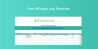 Cost Per Mile Calculator Excel Free Mileage Log Template For Excel Everlance Blog