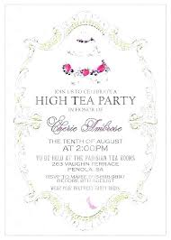 tea party invitations free template mad hatter tea party invitations template chanceinc co
