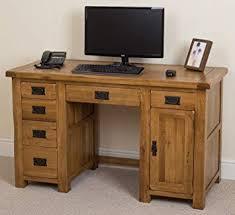 rustic desk home office. Cotswold Rustic Solid Oak Wooden Computer Desk Home Office Furniture,  Workstation (135 X 60 Rustic Desk Office S