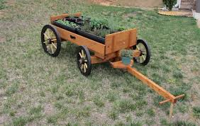 i made this wagon to raise some herbs and when the plants are small i wanted them to get sun as the plants grow larger