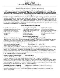 Material Management Resume Sample Resume Supply Chain Management Resume