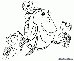 Coloring Finding Nemo Coloring Pages Finding Nemo Bruce Coloring