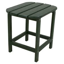 green patio side table
