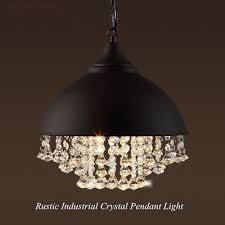 rustic industrial crystal pendant light loft vintage chandelier ceiling lamp oy