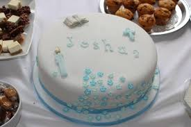 Boys Simple Baptism Cake Cakes By Sheila