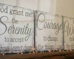 serenity prayer wood sign god grant me the serenity to accept the things i cannot change christian wall art religious wall decor shabby chic on serenity prayer wall art uk with prayer wall art etsy