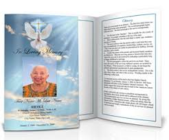 funeral pamphlet funeral program design ideas