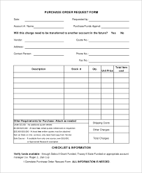 samples of purchase order form sample purchase order form 11 examples in word pdf