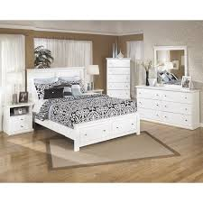 ashley bostwick shoals 6 piece wood queen storage bedroom set in white b139 31 36 46 54s 57 91x2 95 pkg