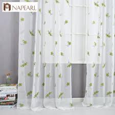 Bestickte Vorhänge Grün Schiere Stoffe Tüll Vorhang Fenster For