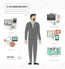 Professional Marketing Expert Infographic Skills Resume With