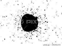 飛沫 墨 塗料 飛散のイラスト素材 39640235 Pixta