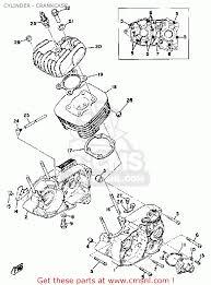 Yamaha dt100 1978 usa cylinder crankcase parts list partsfiche