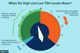 Tsh Range Chart High And Low Tsh Levels Meanings And Variations