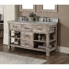 rustic bathroom double vanities. Wonderful Rustic Rustic Style 60inch Double Sink Bathroom Vanity Throughout Vanities A
