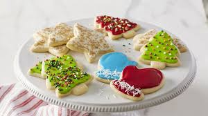 frosted christmas sugar cookies. Classic Christmas Sugar Cookie Cutouts With Frosted Cookies