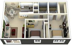 two bedroom apartment layout in bay oaks enjoy mirrored bathrooms and bedrooms along with a pact