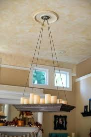 candle chandelier could you make this a diy pillar