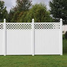 Unique Vinyl Privacy Fence Ideas Lattice With Design