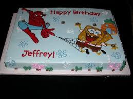 Spongebob Vs Spiderman Cakecentralcom