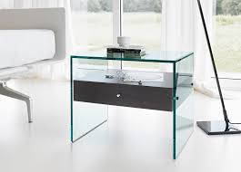 glass bedside table. Tonelli Secrets Bedside Table Glass