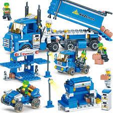 <b>185pcs</b> Legoings <b>SWAT</b> Car DIY Building Blocks Children <b>Enlighten</b> ...