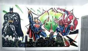 bedroom wall graffiti artist