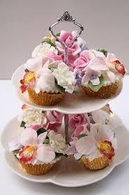 Spring Flowers Cupcakes With Bright Flowers 2038878 Weddbook