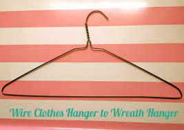 Refashion: Wire Clothes Hanger to Wreath Hanger - Pretty Providence