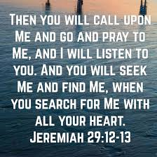 Image result for Jeremiah 29:12-13
