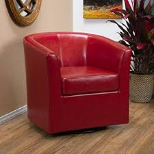 red leather chair. Unique Leather Amazoncom Great Deal Furniture Corley Red Leather Swivel Club Chair  Kitchen U0026 Dining In Chair V