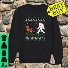 Christmas T Shirts Led Lights Dachshund Walk Bigfoot Led Lights Ugly Christmas Shirt
