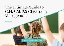 Program office came together for more. C H A M P S Classroom Management Examples Elementary Edition