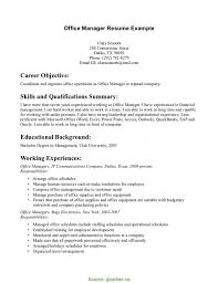 Excellent Area Manager Resume Objective Retail Manager Resume
