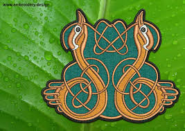 Celtic Knot Embroidery Designs Couple Of Ducks With Celtic Knot Patch Transparent Background