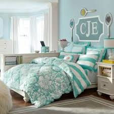 Cute sky blue chevron bed spread from PBteen! Description from ... & Teen Girls' Bedding, Teen Bedding for Girls Adamdwight.com