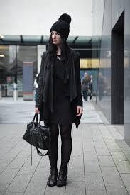 fashion blogger stephanie of faiiint wearing oasap knitted pom pom beanie barneys originals d leather
