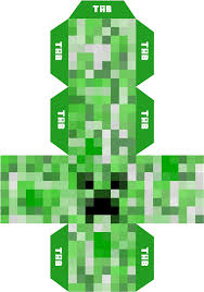 Minecraft Papercraft Mini Creeper PNG ...