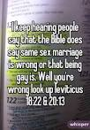 Being gay in the bible