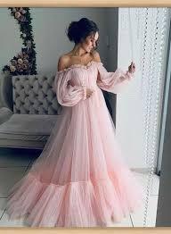 Розовое Тюль С Длинными Рукавами Пышные Рукава Платье для Выпускного Вечера  Горячие Вечерние Плать… | Платья, Платье для выпускного вечера, Бальные  платья принцессы