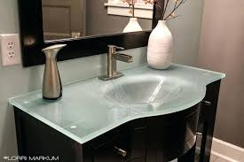 bathroom sink countertop glass bathroom vanity top bathroom sink countertop one piece
