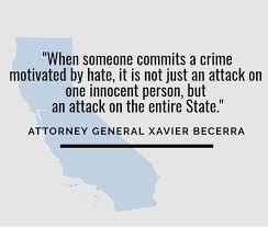 Hate Crimes State Of California Department Of Justice