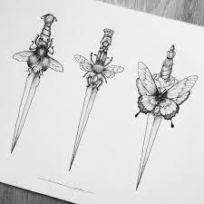 кинжал арт искусство тату татуировки кинжала искусство