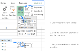 How to add, copy and delete multiple checkboxes in Excel