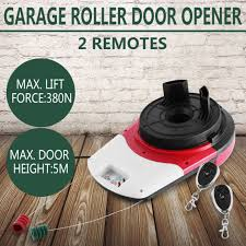 automatic garage roller remote door opener 2 x remote quiet led light