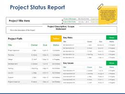 Project Status Slide Project Status Report Ppt Powerpoint Presentation Styles